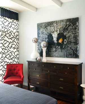 Bold Red done right Energizes a Room