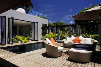 If your patio furniture stays outside year round, buy good quality pieces that will wear well