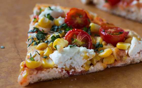 Homemade Pizza that Celebrates End-of-Summer Produce Recipe