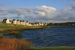 Lough Erne 17th tee landscape. Five-Star Ireland: Luxury, Golf & Top-Class Spas Await