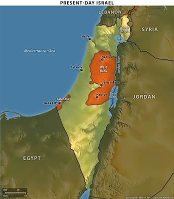 Israel's Present-Day Borders