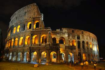 Permanent lighting makes Rome's Colosseum brilliant at night