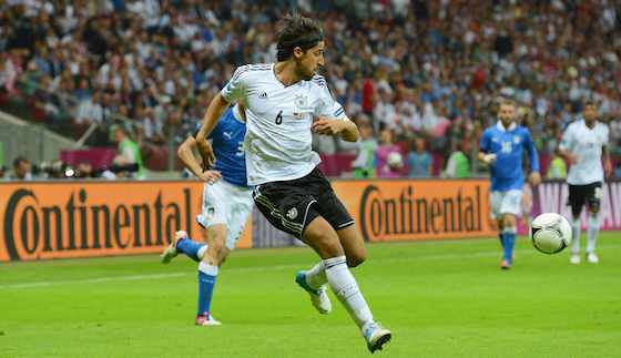 WARSAW, POLAND - JUNE 28: Sami Khedira of Germany in action during the UEFA EURO 2012 semi final match between Germany and Italy at the National Stadium on June 28, 2012 in Warsaw, Poland. (Photo by Shaun Botterill/Getty Images)