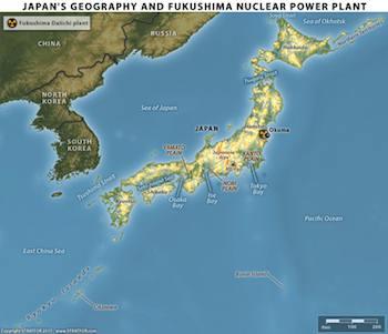 apan's Geography and Fukushima Nuclear Plant