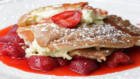 Kaiserschmarrn - Strawberry Pan Souffle Dessert Recipe  Recipe