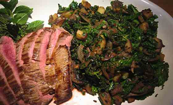 Kale, Portobello and Potato Saute Recipe
