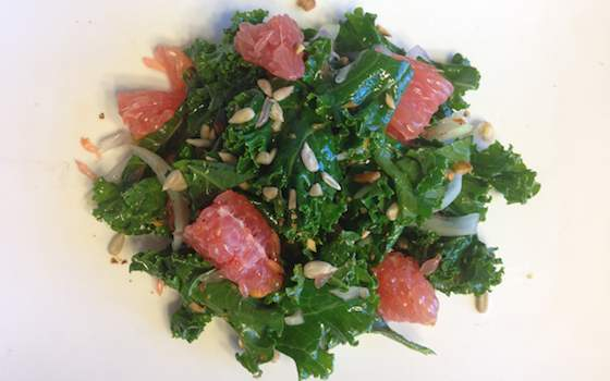 Kale and Grapefruit Salad Recipe