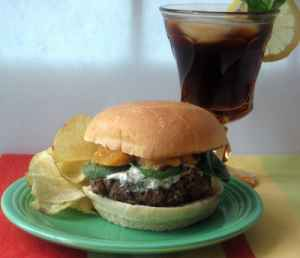 Lamb Burgers with Mango Chutney & Yogurt Sauce Recipe