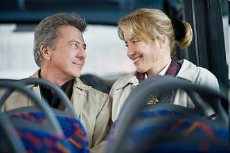 Dustin Hoffman & Emma Thompson in a scene from the movie Last Chance Harvey