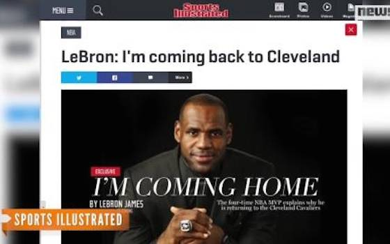 LeBron James to Cleveland: 'I'm Coming Home'
