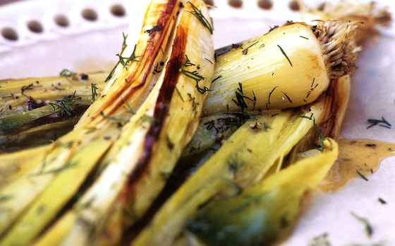 Leeks Vinaigrette, a French Bistro Classic Recipe