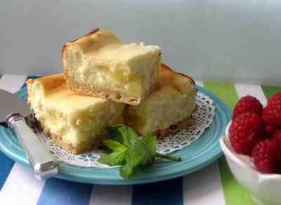 Lemon Ripple Cheesecake Bars Recipe
