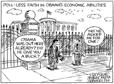 Less Faith in Obama's Economic Abiltities (c) Wayne Stayskal