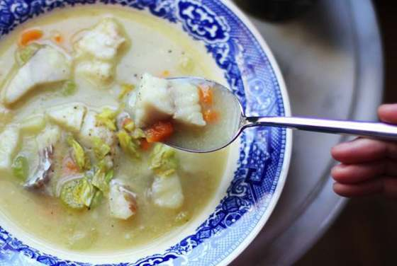 Light, Creamy and Dairy-Free Fish Chowder Recipe