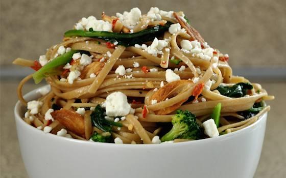 Linguine With Broccoli Rabe and Feta Recipe