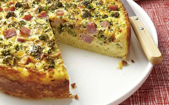 Broccoli, Ham and Cheese Quiche Recipe
