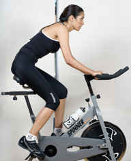 The Spinner Sport enables a low-impact, cardiovascular workout that burns as many as 500 calories in 40 minutes