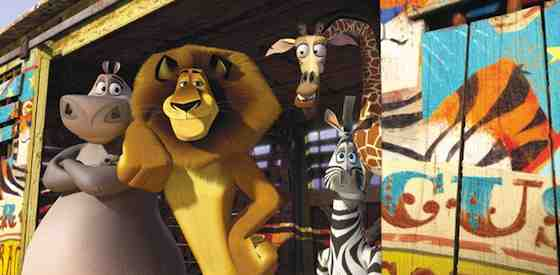 Ben Stiller and Chris Rock in Madagascar 3: Europe's Most Wanted