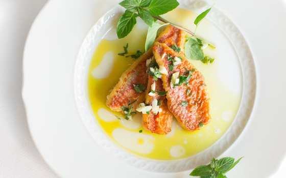 Marinated Fish with Vinegar and Mint