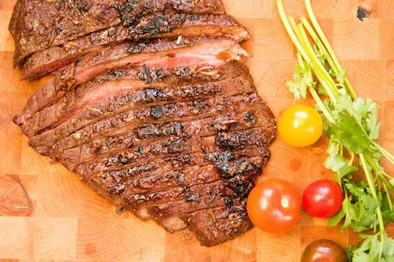 Marinated Flank Steak with Horseradish Sauce Recipe