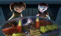 Seth Green and Dan Fogler in Mars Needs Moms