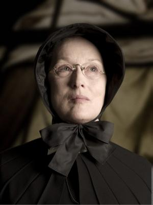 Best Lead Actress Oscar Academy Award Nomination Meryl Streep plays Sister Aloysius Beauvier in the movie Doubt