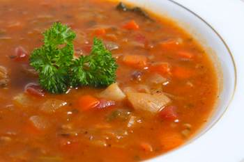Minestrone Soup with Lentils And Brown Rice Using a pressure cooker to make minestrone concentrates the flavor