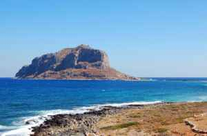 Like the Rock of Gibraltar, Monemvasia is an ancient fortress town that guards a well-traveled coast.