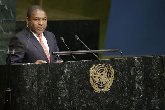 Mozambique President Filipe Jacinto Nyusi