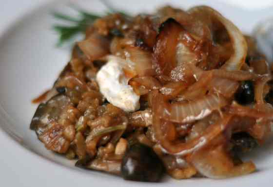 Mushroom Risotto with Caramelized Onions Recipe