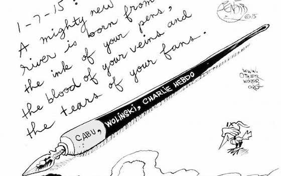 Muslim Cartoonist Draws Lessons from the Charlie Hebdo Massacre