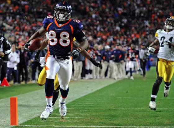 Demaryius Thomas' 80-yard game-winning TD in Broncos' 29-23 OT playoff victory against Steelers