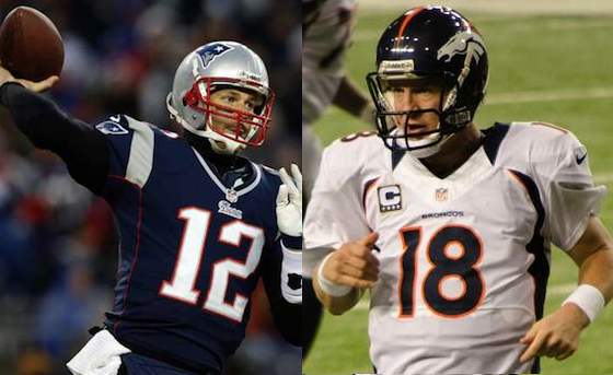 AFC championship game in which Tom Brady and Peyton Manning will go head to head for the 15th time