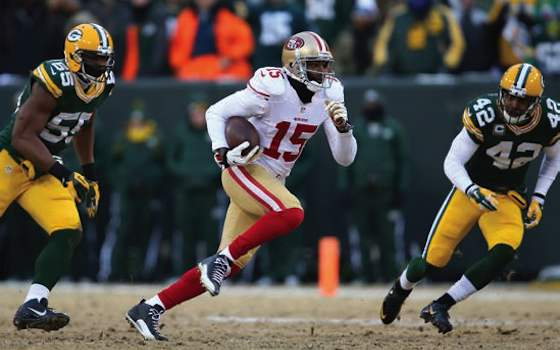 Crabtree bolsters 49ers offense - led 49ers with eight catches for 125  yards against Packers