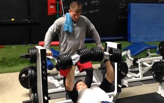 NFL Kickers Bulk Up for Boot Camp