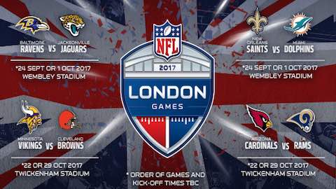 London to Host 4 NFL Games n 2017