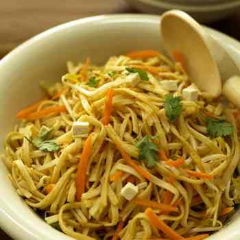Noodles with Peanut Butter Dressing: An Asian Twist on Pasta Salad