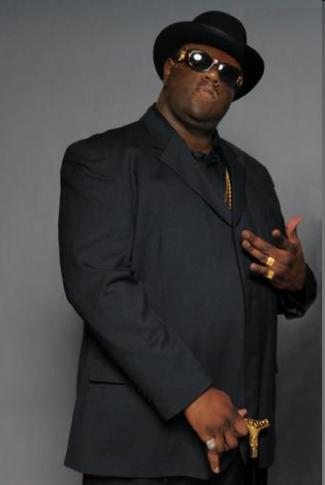 newcomer Jamal Woolard in his role as Biggie Smalls in NOTORIOUS