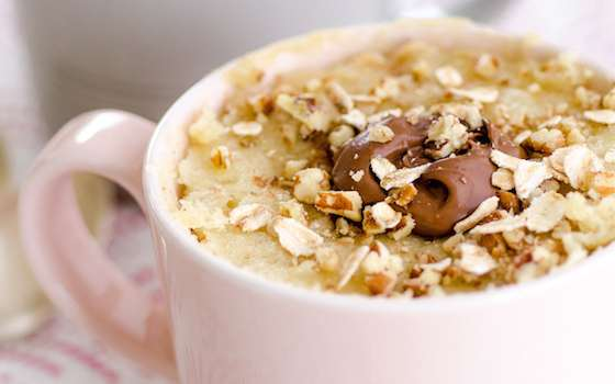 Oatmeal Nutella Mug Cake Recipe