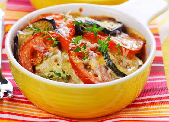 Oven Baked Ratatouille with Mixed Herb Pesto Recipe
