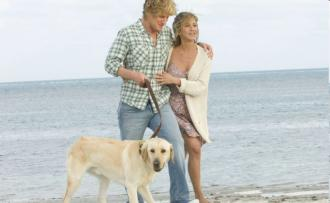 Owen Wilson and Jennifer Aniston in Marley and Me
