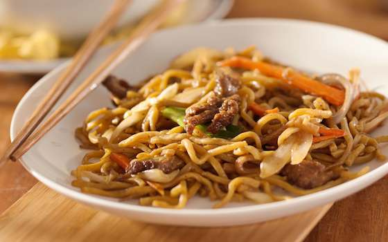 Pan-fried Noodles with Vegetables, a one-dish meal Recipe