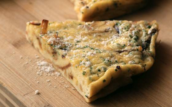 Parsnip Frittata with Chives and Pecorino Recipe