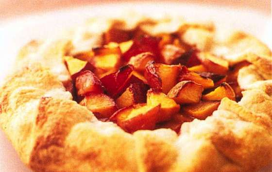 Free-Form Peach Crostata Recipe — Dishmaps