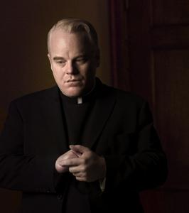Best Supporting Actor Oscar Academy Award Nomination Philip Seymour Hoffman as Father Brendan Flynn in the movie Doubt