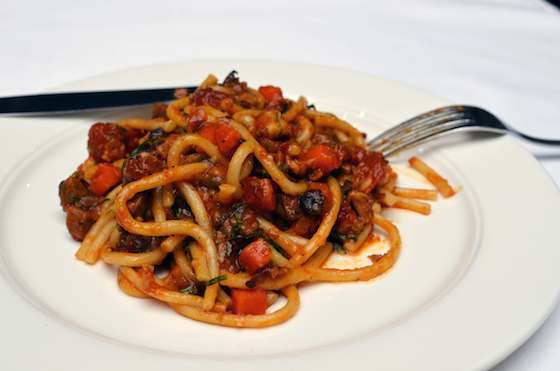 Pici con Sugo d'Agnello (Pici with Lamb Sauce) Recipe