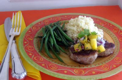 Pork Tenderloins with Fresh Peach Salsa - Betty Rosbottom Recipe