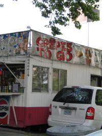 Food cart on Alder Street selling crepes to go Portland, Oregon - Food Friendly City | Portland, OR