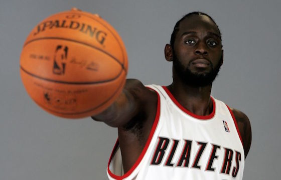 Portland Trail Blazers forward Darius Miles poses for a photo during media day in 2007.