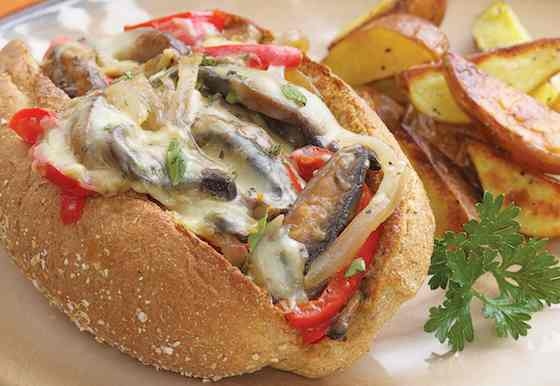 Portobello 'Philly Cheese Steak' Sandwich Recipe